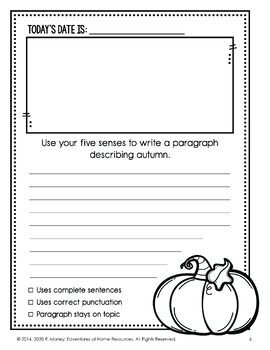 October Daily Journal (Writing Prompts)