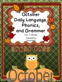 October Daily Language Arts, Grammar, and Phonics - 1st Grade