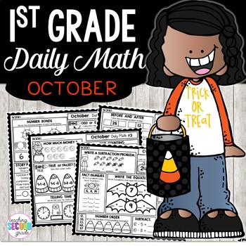 October Daily Math (1st Grade) - Use for morning, homework or independent work