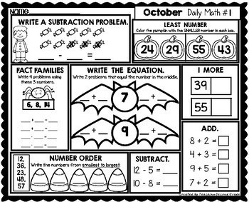 October Morning Work | 1st Grade