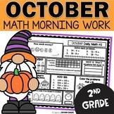 October Morning Work   Daily Math