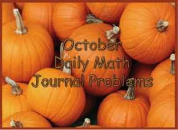 October Daily Math Journal Problems Powerpoint Presentation