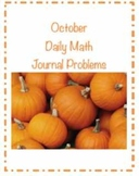 October Daily Math Journal Problems