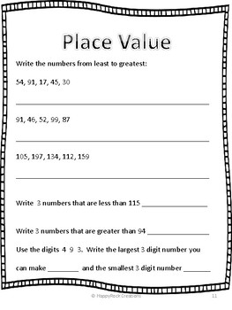 Place Value Daily Math Pages