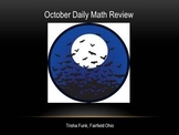 October Daily Math Review Slides with Answers