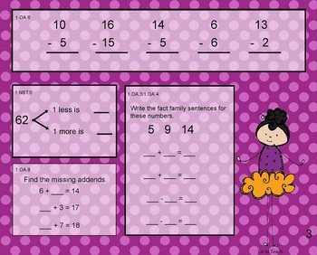 October Daily Math Warm-Up (1st Grade Common Core)