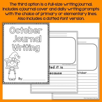 October Daily Quick Writes Writing Journal