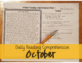 October Daily Reading Comprehension