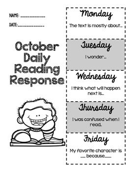October Daily Reading Response