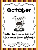 October Daily Sentence Editing
