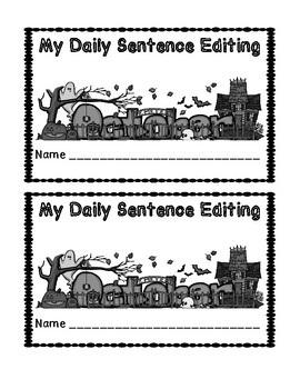 October Daily Sentence Editing