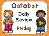 October Daily Review PowerPoints for Kindergarten~Great for Calendar Time!