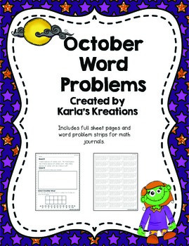 October Daily Word Problems