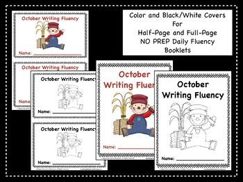 October Daily Writing Fluency Prompts - 31 Sentence Starters