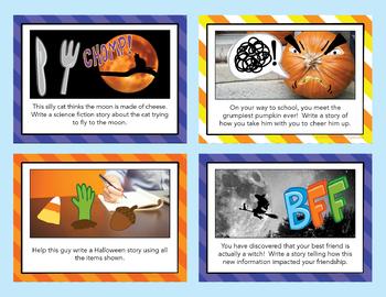 October Writing Prompts - Halloween Writing Prompts- Google Classroom Activities