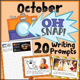 October Writing Prompts - Halloween Writing Prompts- Google Classroom Activities