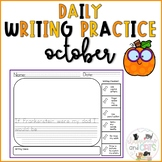October Daily Writing Prompts for Kindergarten and First Grade