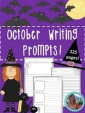 October Writing Prompts on Themed Paper {125 Differentiated Pages!}