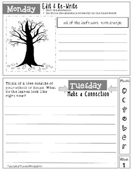 October Daily Writing Tasks