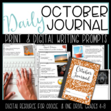 October Daily Writing Warm Up Bell Ringer Journal Prompt P