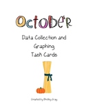 """October"" Data Collection and Graphing Task Cards"