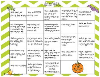 October-December Writing Calendars Bundled