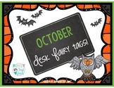 October Desk Fairy Tags