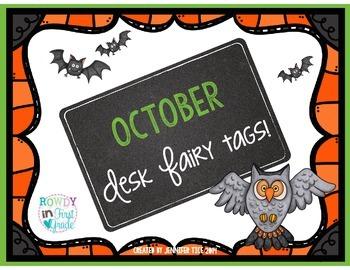 October Desk Fairy Tags