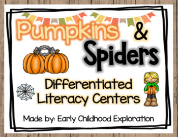 October Differentiated Literacy Centers