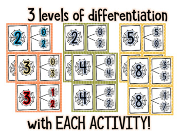 October Differentiated Math Center Bundle