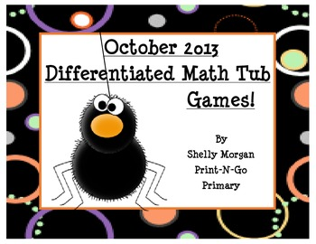 BUMP and More Math Games for October