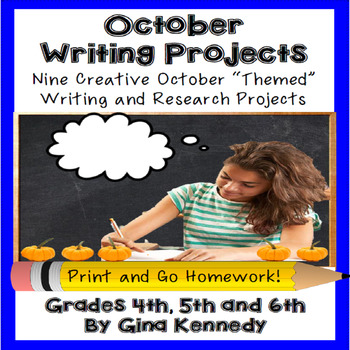 October Creative Writing Projects for Upper Elementary Students