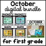 October Digital Bundle | First Grade Distance Learning