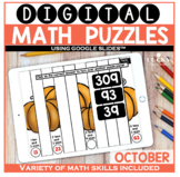 October Digital Math Puzzles