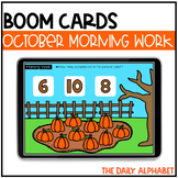 October Digital Morning Work | Kindergarten Boom Cards™ fo