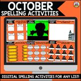 October Digital Spelling Activities for Word Work