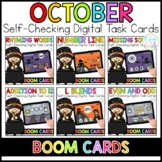 October Digital Task Cards | Boom Cards™ | Distance Learning