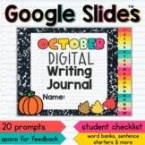 October Digital Writing Journal for Google Slides with Int