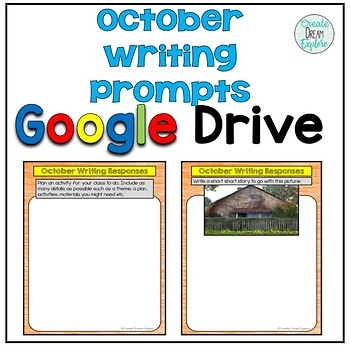October Digital Writing Prompts for Google Drive