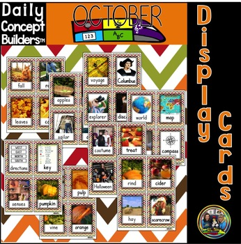 October Display Cards with Real Photographs