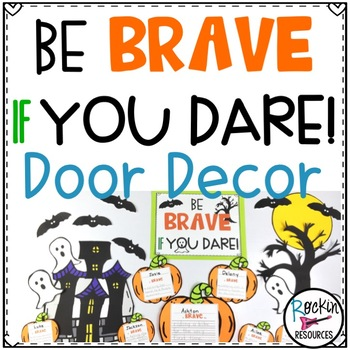 October Door Decor Halloween Bulletin Board for Character Education