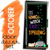 October Door Decor Set Halloween Themed Door