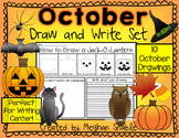 October Draw and Write Pack- Halloween Activities and Directed Drawings