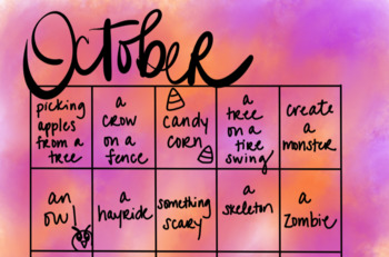 October Drawing Calendar