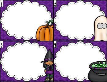 October EDITABLE Task Card TEMPLATES