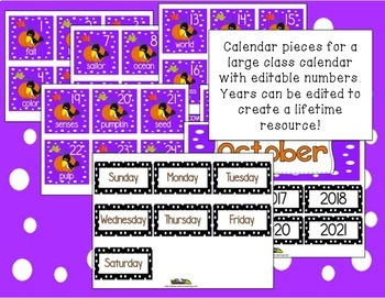 Fall Activities For October Word of the Day Calendar