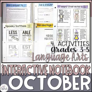 October ELA Interactive Notebook