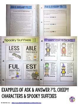 ELA Interactive Notebook October