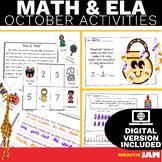 October ELA and Math Activities