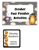 October Early Finisher Pack